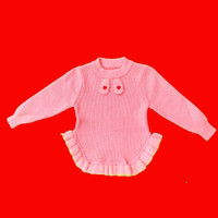 Baju Sweater Rajut Atasan Anak Perempuan Halus Import Real Picture No7 - SIZE 16
