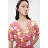 Mini Dress Korea Sexy Pink Girly Flower Import