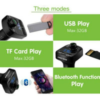 charger mobil bluetooth A16 Dual USB Digital Audio Display TF Slot
