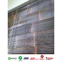 Tirai krey bambu kulit hitam krey outdor 2,5x2 berkualitas di pernis