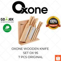 Oxone Wooden Knife Set OX 95 - Pisau Dapur Gagang Kayu Murah Original