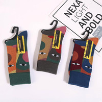 K21 Kaos Kaki Corak Unisex Colorful Fashion Korea Japan Tide Bike Sock