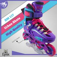 Sepatu Roda Lynx Bm 137 purple blue