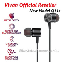 HEADSET VIVAN ORIGINAL Q11S HEANDSFREE CABLE ANDROID IN EARPHONE METAL