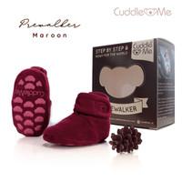 kaos kaki bayi prewalker sepatu cuddleme - maroon