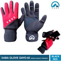 XABA sarung tangan gunung series gadget friendly hitam - merah - grey