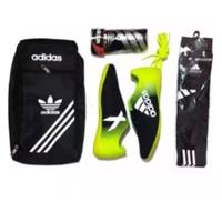 ( PAKET KOMPLIT ) Sepatu Futsal Adidas X paket komplit - sepatu aja, 39