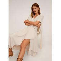 Gaun Long Dress Korea White Lovely Summer sz L Import