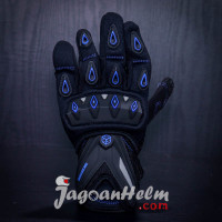 GLOVE SCOYCO MC10 | BLACK - BLUE | SARUNG TANGAN MC-10 GLOVES