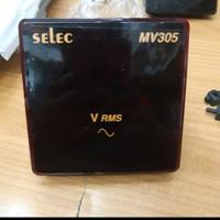 Digital volt Meter 1Phase 2 Wire SELEC Mv305 Selec 1p voltmeter