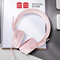MINISO Headphone Headset Earphone Bando Over On Ear With Mic Gliter