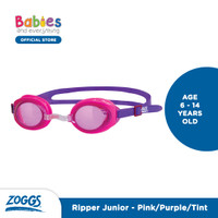Zoggs Ripper Junior Swimming Goggles - Blue Red, ONE SIZE