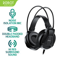 HEADPHONE ROBOT ORIGINAL RH-P10 HEADSET AUDIO DOUBLE WIRED GAMING HF