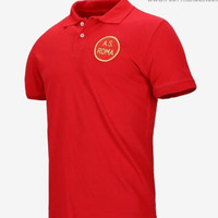 Kaos Polo Shir Baju Kerah Distro AS ROMA sablon polos custom indonesia