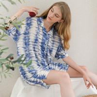 Sadie Set in Light Blue - Sleepwear / Piyama Baju Tidur Rayon by RAHA