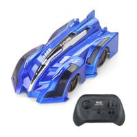 Mainan Mobil Remote Control Stunt Car RC Charger Wall Climber - Biru
