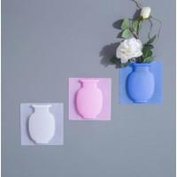 Vas Bunga Silikon / Hiasan Dinding Vas Tempel Unik Magic Silicone Vase