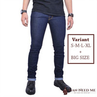 Celana Jeans Pria SLIM FIT DENIM STRETCH - Navy