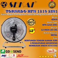 Kipas Angin Besi Tornado SEKAI 12 HFN 1210 2-in-1 (Tembok & Meja)