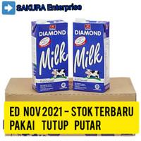 susu UHT milk Diamond Fullcream 1L full cream 1 liter per karton Murah