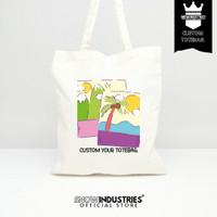 [CUSTOM]Sablon Tas Tote Bag Baby Canvas Satu Sisi 30x40 (Free Design)