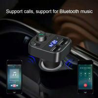 Car Charger Bluetooth FM Transmitter Audio Digital Display CARX8 NEW