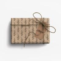 Paket Kertas Kado & Tag Harvest Eco-Friendly Gift Set - Tree