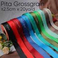 Pita Grossgrain ±2.5cm x 20yard - Ribbon - kado - hadiah - Ribbon