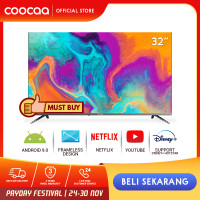 COOCAA 32 inch Android 9.0 Smart LED TV- HD- Built in Netflix (32S6G)