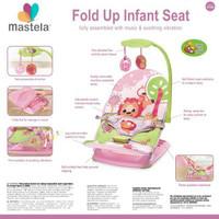MASTELA Fold Up Infant Seat |Infant Seat with Hanger Toy and Travelbag