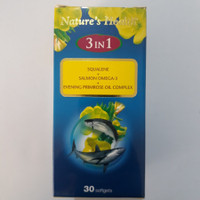 Natures Health 3 IN 1 Squalene + Salmon Omega 3 Isi 30 Softgels