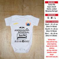Jersey Bayi Persija Away Jumper Bayi Romper Bayi Baju bola bayi - S