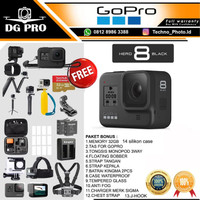 GoPro HERO8 Black - GoPro HERO 8 Black - Go Pro HERO 8 Paket Komplit