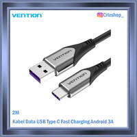 2M Kabel Data USB Type C Fast Charging Android - 3A Grey Vention