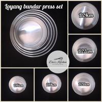 Loyang press Alumunium Round tanpa Sambungan D16 T9cm