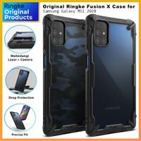 Original Ringke Fusion Case Samsung Galaxy M51 - Soft Casing Softcase - Black