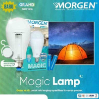 Lampu LED Emergency / LED Magic 16W + 2 Baterai Putih MORGEN