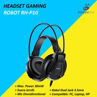 Headset Robot Gaming RH-P10 Headphone Laptop - Komputer PC - HP
