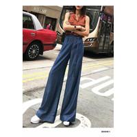 Celana Panjang Wanita Blue Casual Style sz S Import