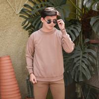 Sweater Pria Crewneck Polos Murah