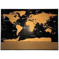 Poster Scratch Map Peta Dunia Versi National Flag - Flag, Hitam