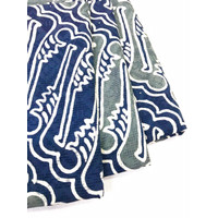 DOBY ABU NAVY PASTEL motif 2 dobi dobby bahan kain batik biru parang