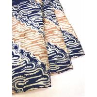 Viscos Navy Pastel motif 9 kain batik viscose viskos parang lereng