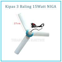 Kipas Angin Gantung / Helifan 3 Baling 15 Watt NIGA