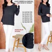 Baju Branded Wanita - S.OLIVER 37 SHIRRED SLV CHARCOAL