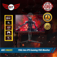 Monitor LED AOC 24G2E5 FHD 23.8 75Hz 1Ms IPS Gaming Monitor 24 Inch