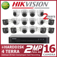 PAKET CCTV HIKVISION 2MP 16 CHANNEL HDD 4TB