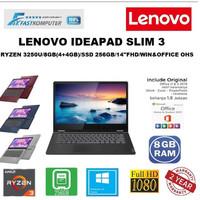 LAPTOP LENOVO IDEAPAD SLIM 3 - RYZEN 3250U 8GB 256GB SSD 14FHD WIN10