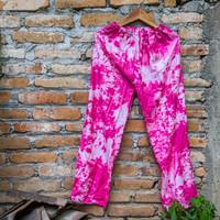 Celana Panjang Kulot Tiedye Wanita Pria Bahan Rayon Nyaman Motif Garis