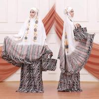 mukena batik cap lukis mlc026 - putih E, All Size